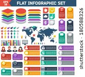 flat infographic elements set.... | Shutterstock .eps vector #180588326