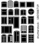 isolated icon set with black... | Shutterstock .eps vector #180588719