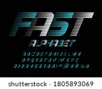 speed style alphabet with... | Shutterstock .eps vector #1805893069