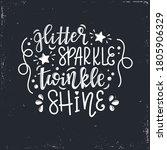 glitter sparkle twinkle shine...   Shutterstock .eps vector #1805906329
