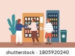 children buying snack and... | Shutterstock .eps vector #1805920240