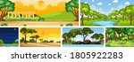set of different nature place...   Shutterstock .eps vector #1805922283