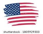 vector brush stroke american... | Shutterstock .eps vector #1805929303