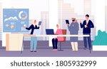 office team. international...   Shutterstock .eps vector #1805932999