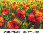 Red Poppies Spring Meadow...