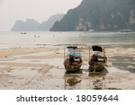 boats at low tide | Shutterstock . vector #18059644