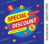 special discount concept banner ... | Shutterstock .eps vector #1805971900