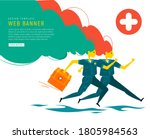 emergency doctors rushes to... | Shutterstock . vector #1805984563