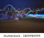 Long Exposure Curved Lights Of...