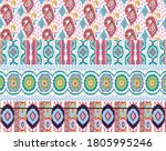 damask with colorful patchwork....   Shutterstock .eps vector #1805995246