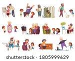 grandma and grandpa set with...   Shutterstock .eps vector #1805999629