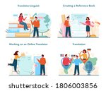 translator and translation...   Shutterstock .eps vector #1806003856