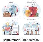 diplomat profession set. idea... | Shutterstock .eps vector #1806005089