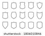 shield outline labels. police...   Shutterstock .eps vector #1806010846