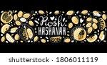 jewish new year. rosh hashanah  ... | Shutterstock .eps vector #1806011119