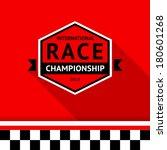 racing badge 03  vector... | Shutterstock .eps vector #180601268