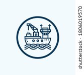ship icon isolated on white... | Shutterstock .eps vector #1806019570