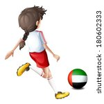illustration of a player using... | Shutterstock .eps vector #180602333