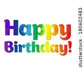 happy birthday card   Shutterstock .eps vector #180602483