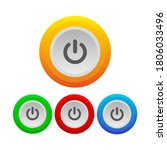 power button icon. realistic... | Shutterstock .eps vector #1806033496