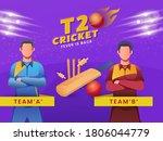 cartoon cricketers of... | Shutterstock .eps vector #1806044779