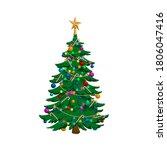 isolated image of christmas... | Shutterstock . vector #1806047416