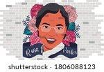 portrit of rosa parks. civil... | Shutterstock .eps vector #1806088123