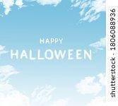 happy holloween cloud shape  ...   Shutterstock . vector #1806088936