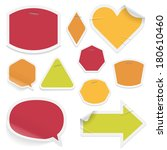 labels and stickers on white... | Shutterstock .eps vector #180610460