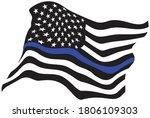 waving usa police blue line... | Shutterstock .eps vector #1806109303