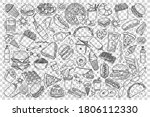 fast food doodle set....   Shutterstock .eps vector #1806112330