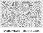 cinema doodle set. collection...   Shutterstock .eps vector #1806112336