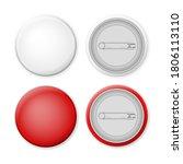 badge pin set on a white... | Shutterstock .eps vector #1806113110