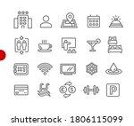 hotel   rentals icons 1 of 2    ... | Shutterstock .eps vector #1806115099