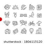 summer vacations icons    red... | Shutterstock .eps vector #1806115120