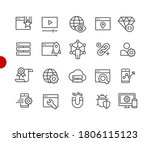 seo   digital marketing icons 2 ... | Shutterstock .eps vector #1806115123