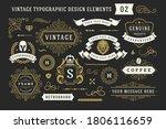 vintage typographic decorative... | Shutterstock .eps vector #1806116659