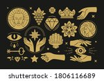 esoteric magic and witch vector ...   Shutterstock .eps vector #1806116689