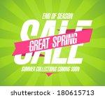 great spring sale design in... | Shutterstock .eps vector #180615713