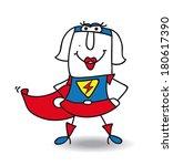 karen is a superwoman | Shutterstock .eps vector #180617390