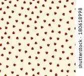vector ladybird seamless pattern   Shutterstock .eps vector #180618998