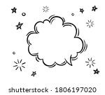 doodle black and white hand... | Shutterstock .eps vector #1806197020