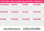 bundle vector thin line icons....