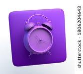 alarm clock icon on isolated...