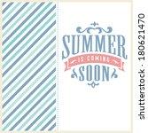 retro elements for summer... | Shutterstock .eps vector #180621470