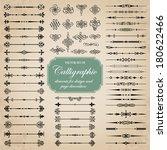 vector set of calligraphic... | Shutterstock .eps vector #180622466