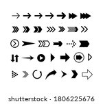 set of black arrows. collection ... | Shutterstock .eps vector #1806225676