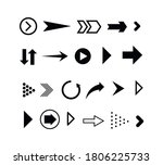 set of black arrows. collection ... | Shutterstock .eps vector #1806225733