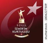 september 9  salvation of izmir.... | Shutterstock .eps vector #1806227509