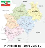 administrative vector map of... | Shutterstock .eps vector #1806230350